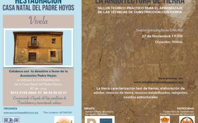 SESIÓN INTRODUCTORIA ONLINE DEL TALLER SOBRE LAS TÉCNICAS DE CONSTRUCCIÓN CON TIERRA